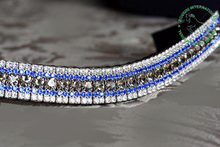 crystal leather browbands