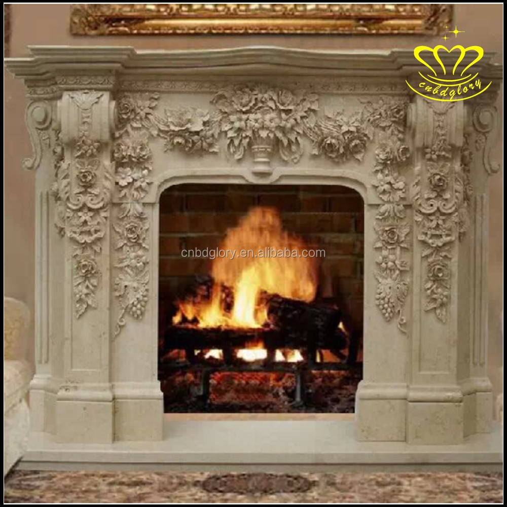 special supply stone fireplace cream colored european style mantel