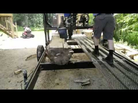 Custom Built Swing Blade Portable Sawmill in Ontario