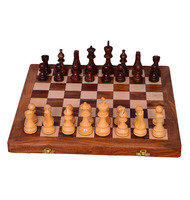 Chess Set With hand-carved Wooden Pieces Board