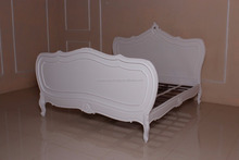 Mahogany Furniture-Rochella Bed White-Antique Reproduction Furniture-Vintage Furniture