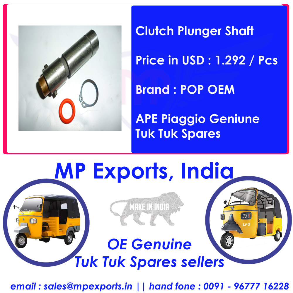 ape piaggio tuk tuk spare parts clutch plunger shaft - buy clutch