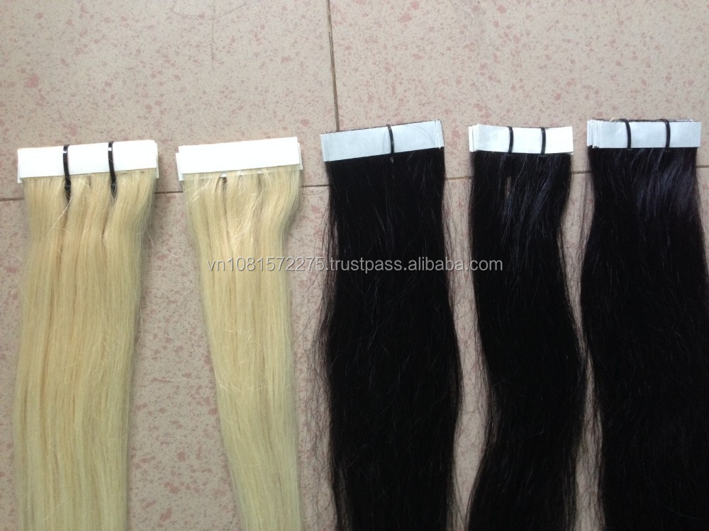 "Cheap 16"" 28"" 20"" Tape in Human Hair Extension Brazilian Thick Skin Weft Tape Hair Extensions Adhesive Products"