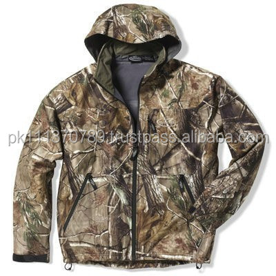 Real tree mens jacket with hood