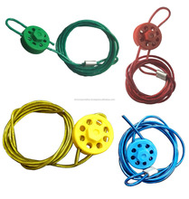 ROUND MULTIPURPOSE CABLE LOCKOUT WITH LOCKING TOOL - Different color