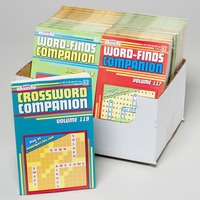 PUZZLE BOOK COMPANION WORDFIND/ CROSSWORD IN 36 PC CNTR DISPLAY #16680P