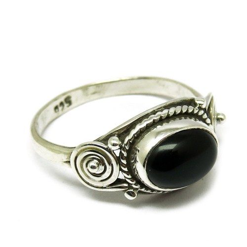 Attractive Black Onyx 925 Sterling Silver Bezel Setting Ring, Indian Ring Silver Jewelry, Indian Ring Silver Jewelry Supplier