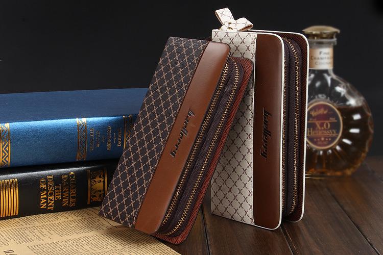 Baellerry large Zip Around PU Leather Clutch bag Organizer Wallet
