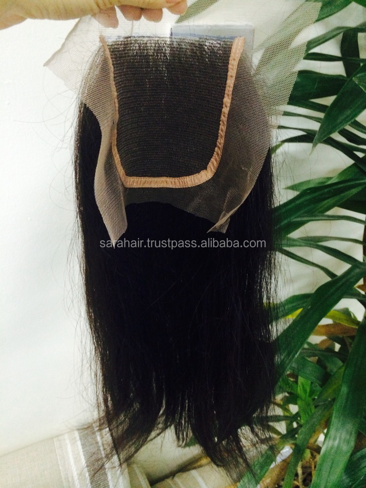 Side part clear Vietnamese human hair lace closure