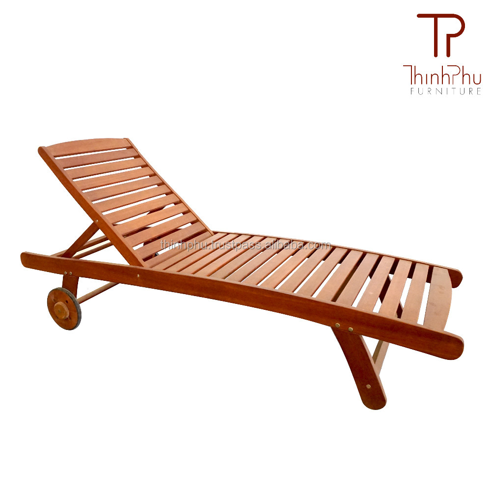 FLORY - Best Brand Wooden Sun Lounger - Use Pool Patio Furniture - Furniture Made In Vietnam