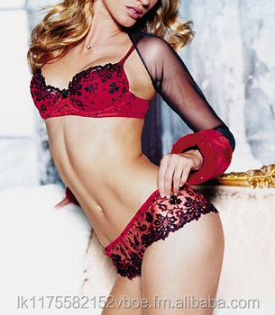 Black   Red Lace Sensual Bra   Panty - Buy Lingerie 450bee6d1