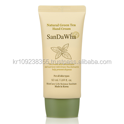 SanDaWha Korean Natural Skin Care from Jeju Island, Natural Green Tea Hand Lotion Cream