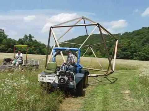 4x4 UTV towing geodesic frame building