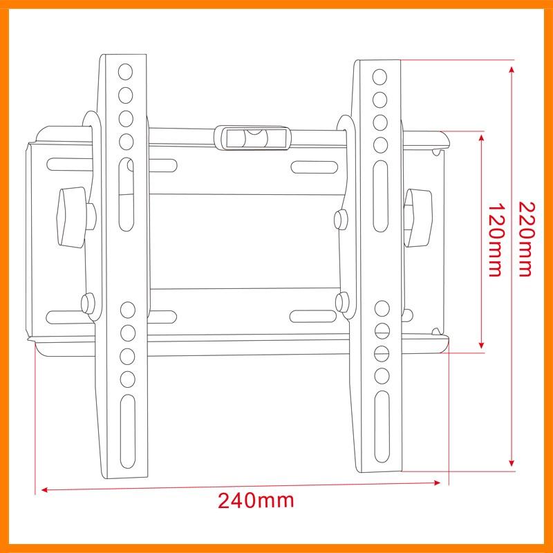 22-37 인치 슬라이딩 LCD Tilt Flat Panel TV Bracket 이동식 vesa TV 벽 실장 (smd, smt (LED64T)