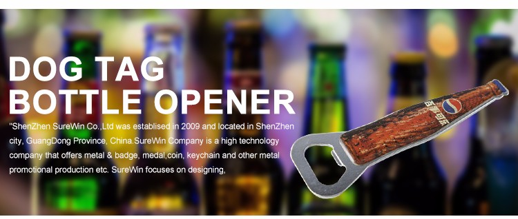 Promotion Steel Alloy Custom Metal Bottle Opener Wine Bottle Opener with UV Printing Logo