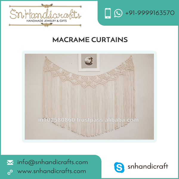 Vintage Wall Hanging Macrame Curtains for Bedroom Decor