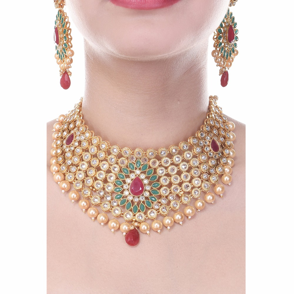 Royal Choker South Indian Style One Gram Gold Plated Exclusive ...