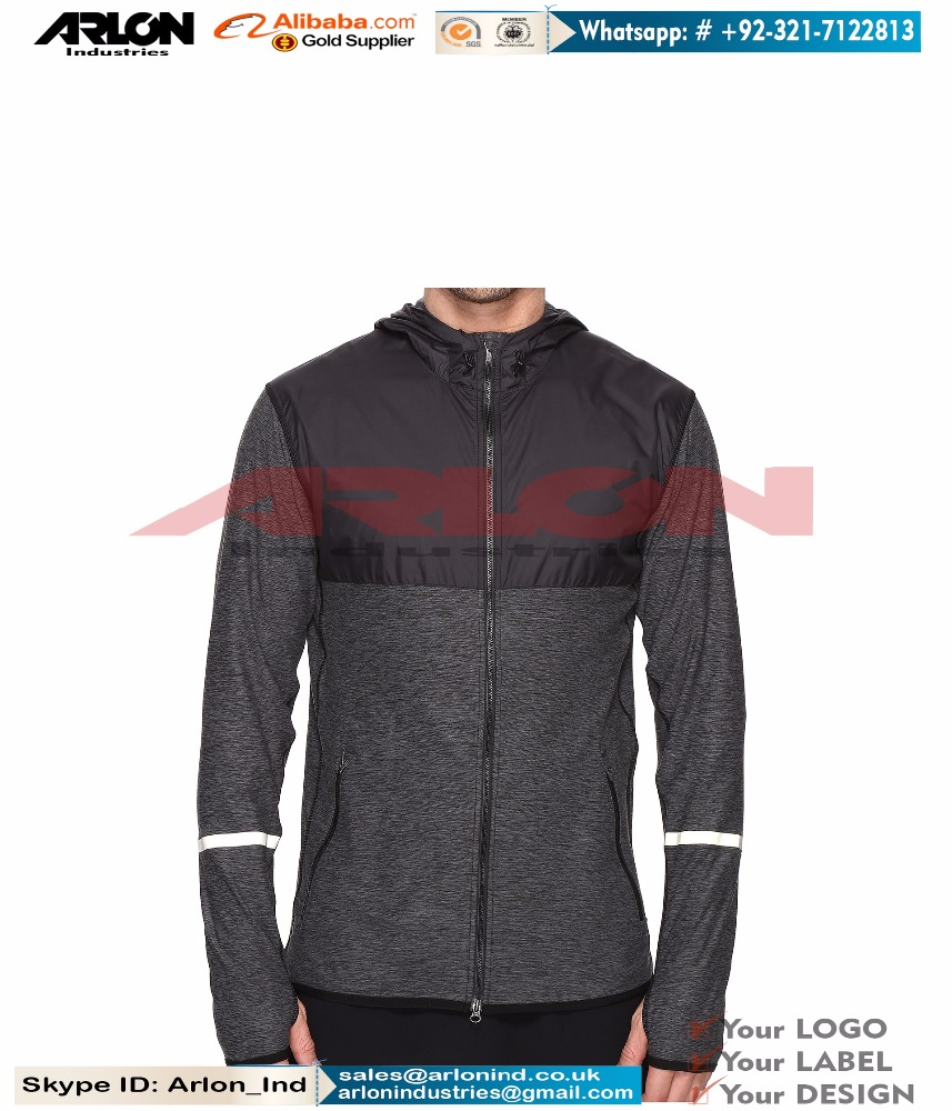Wholesale Winter And Fitness Polyester Fleece Men Gray Hoodies With Hood Sports Running Men Wear