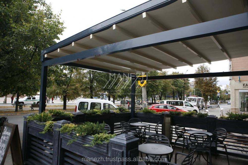 Veranda in alluminio pergola con tetto automatico archi for Piani ponte veranda