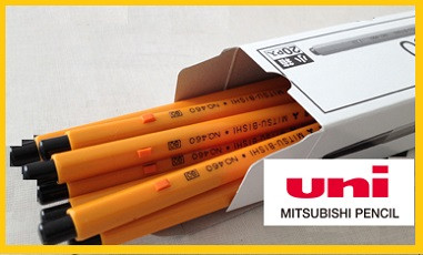 MITSUBISHI uni ball pen , UNI No.460 oiled ink pencil for securities and official documents