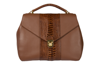 Khatoco Ostrich Leg Leather Handbag 06226 P