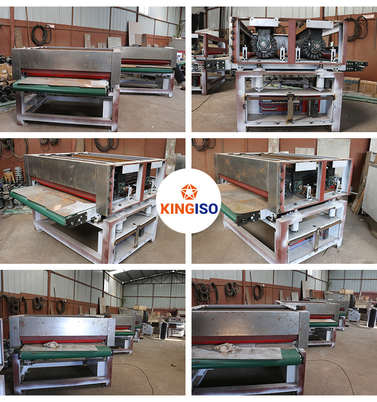 Large Scale Drum Sanding Machine with 6 Rollers for CNC Carved Doors