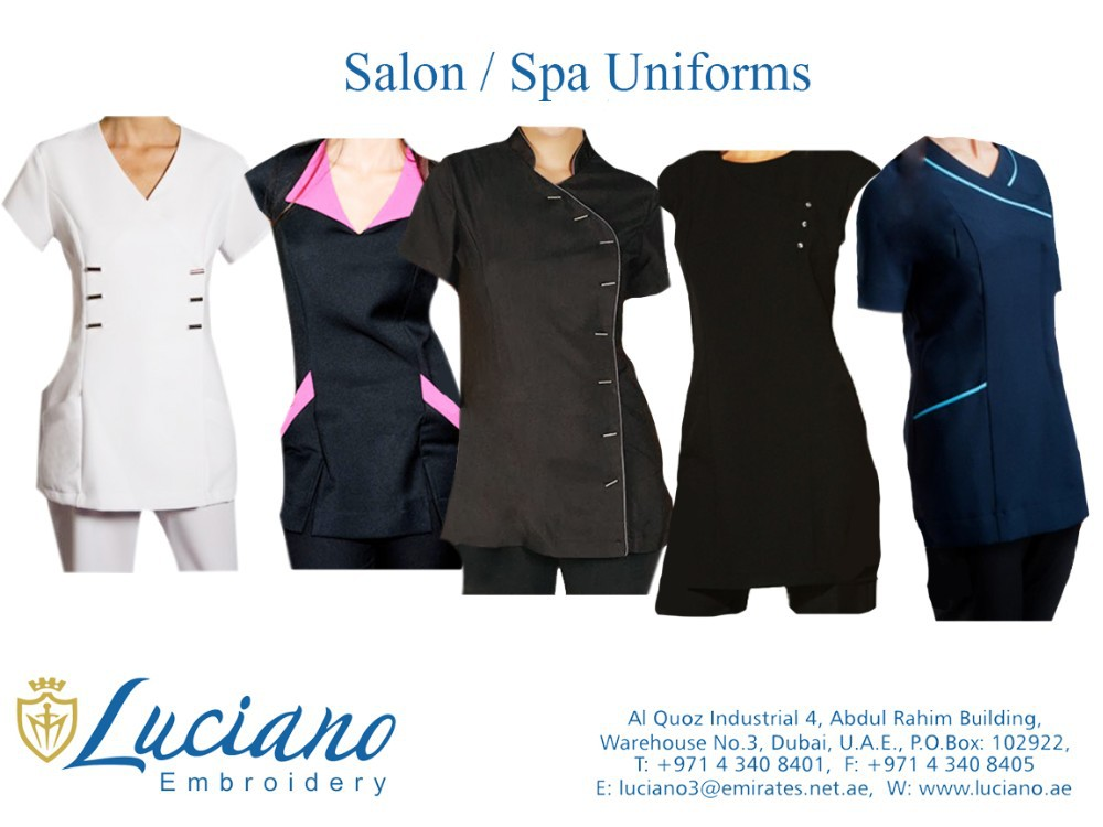 Salon spa uniforms buy spa beauty salon uniform for Spa uniform uae