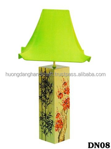Young bamboo and cherry tree Lacquer Lamp For Bedroom