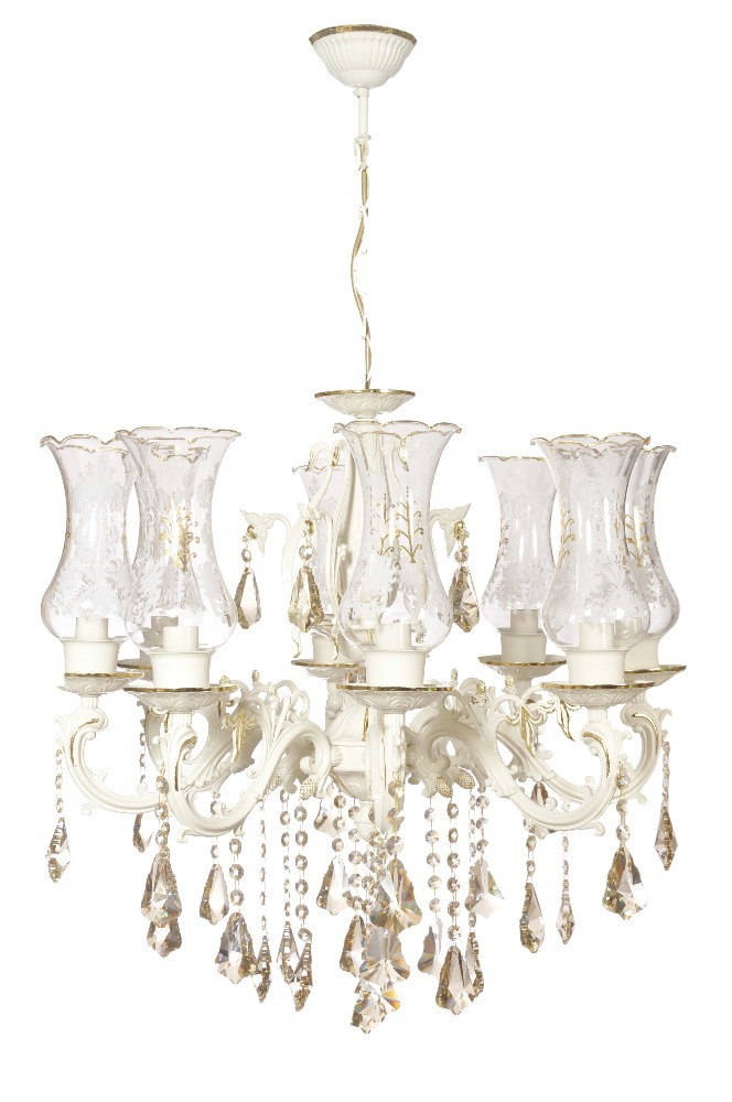 TUNC AVIZE 8LIGHT SPECIAL CHANDELIER SPECIAL LEAF PROCESSING ON WHITE