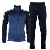 men sports tracksuits - mens soccer tracksuit 100% polyester tricot for training
