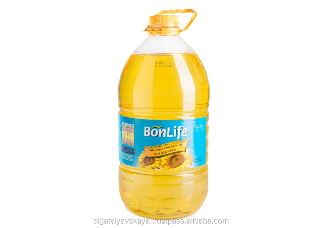 Bonlife sunflower oil - 5L PET KOSHER Certified , produced in Ukraine