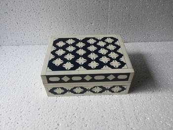 Bone Inlay Gift Boxblack White Striped Gift Boxblack And White