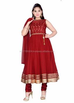 a7cc617f1ac3b Nouveau style indien petites filles anarkali costumes ensemble-Enfants  vêtements pour enfants en ligne robes