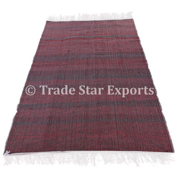 Indian Decorative Hand Woven Rugs Throw Loomed 4x6 Large Durrie Floor Mat