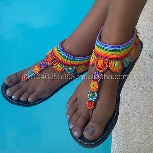 African Beaded Gladiator Sandals - Buy Gladiator Sandals Design ...