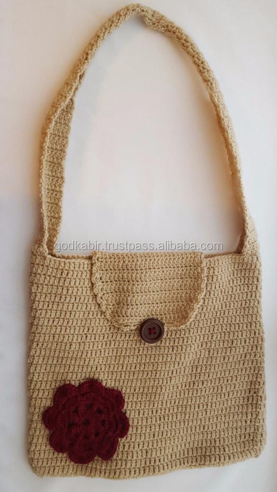 Bolsa De Ganchillo Patrón-bolso Redondo Con Mandala-overlay Crochet ...