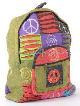 Hippie Cotton Canvas Shoulder Bags