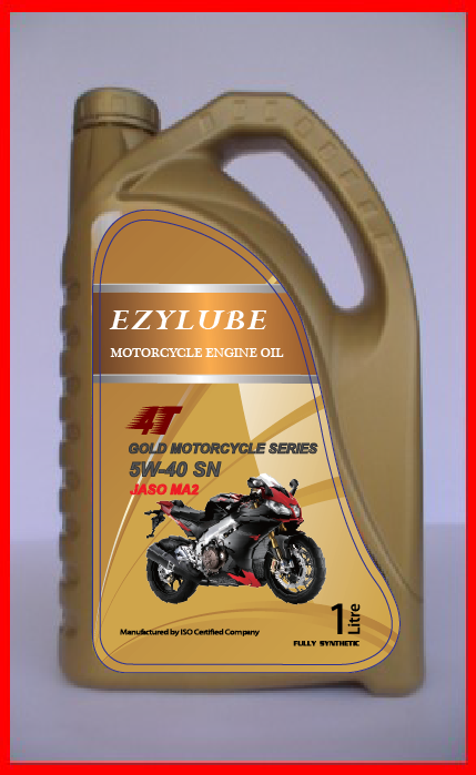 Engine Oil 4T Motorcycle Gold Series 5W-40 SN JASO MA2
