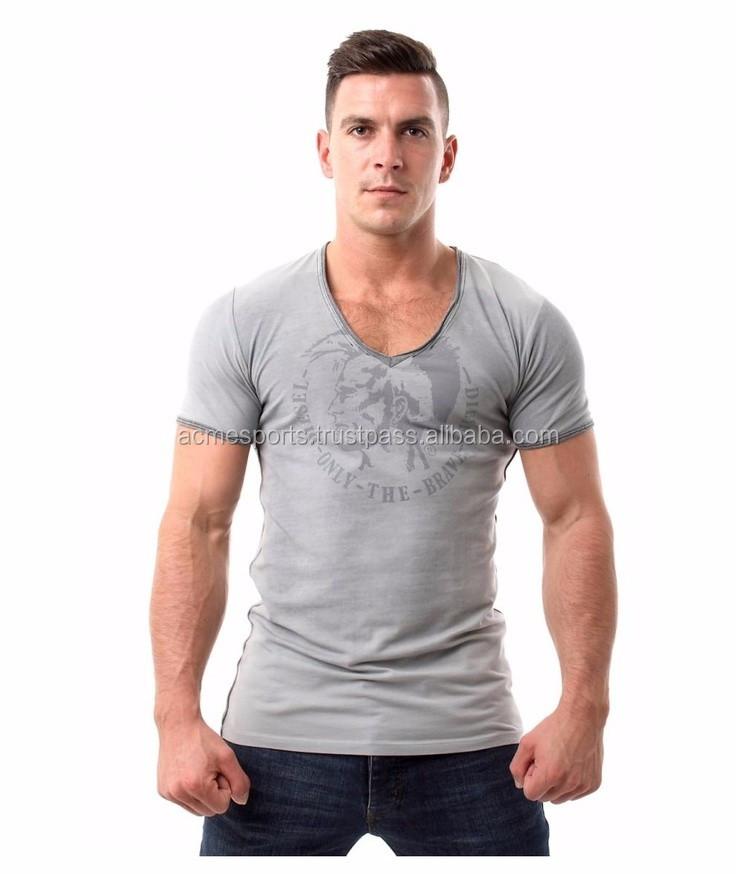 3a41784c0719 Deep Neck T shirts - Man plain 100 cotton deep v neck t shirts for men