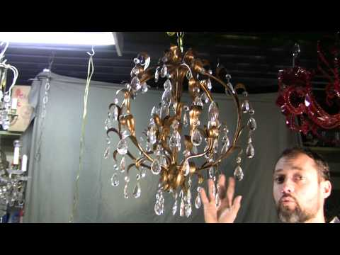 Crystal Chandelier, Antique Italian Crystal Chandelier