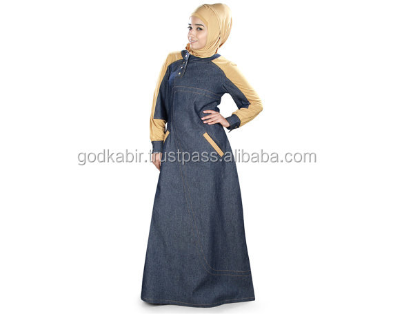 Women's Afifa Abaya with Jersey and Denim /Vintage Full modern colour Burka./New Arrival Very popular in market Burka/BestDesign
