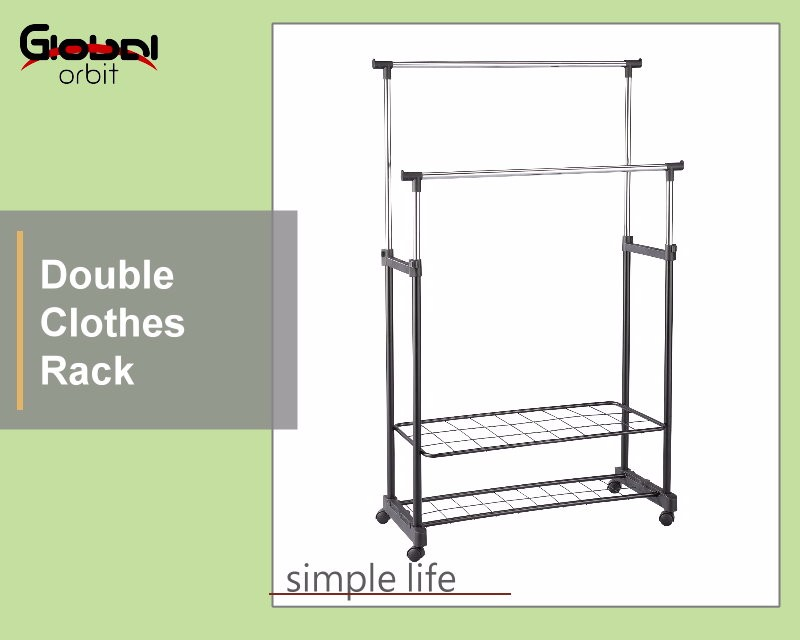 colorful adjustable metal garment clothes stand movable single clothes rack