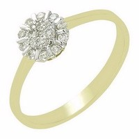New Coming High Quality Wholesale Natural Yellow Gold Diamond Ring