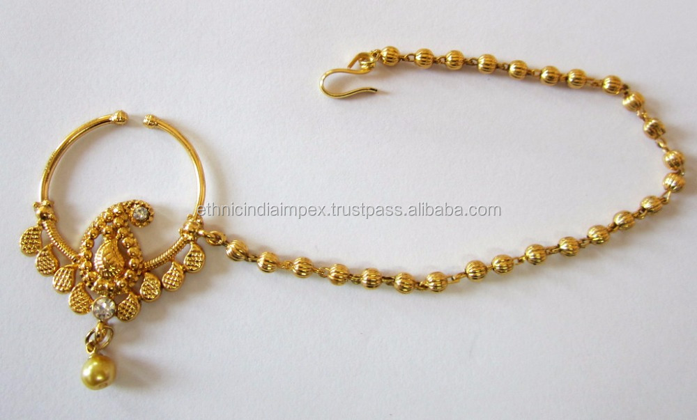 Hoop Nath Press Nose Ring Gold Plated Buy Nose RingNath Product
