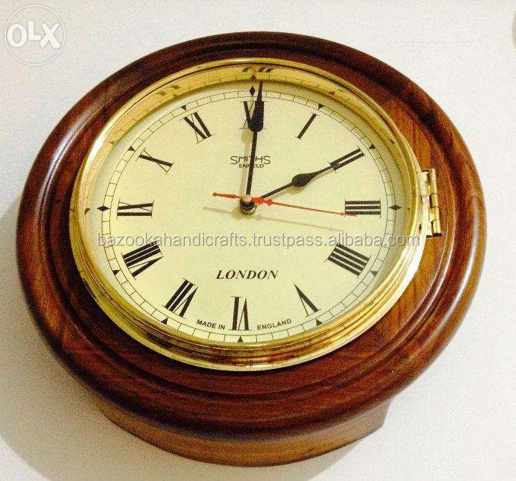 D coratif en bois et en m tal horloge suspendus horloge - Grande horloge murale bois ...