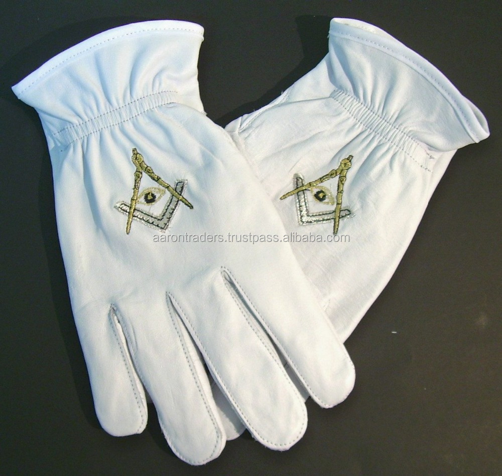 Leather Masonic Gloves