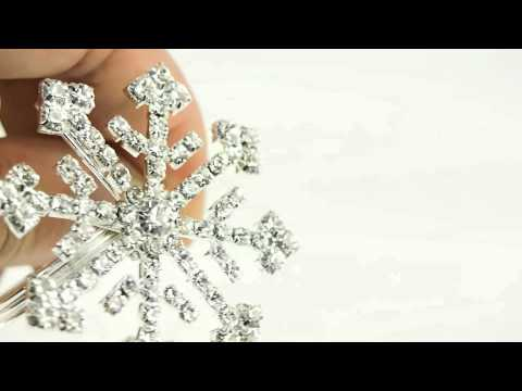 Snowflake Star Crystal Diamond Jewelry Cake Topper Napkin Holder Wedding Decor