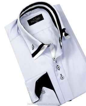 double col chemise avec boutons de manchette cemisa noir. Black Bedroom Furniture Sets. Home Design Ideas