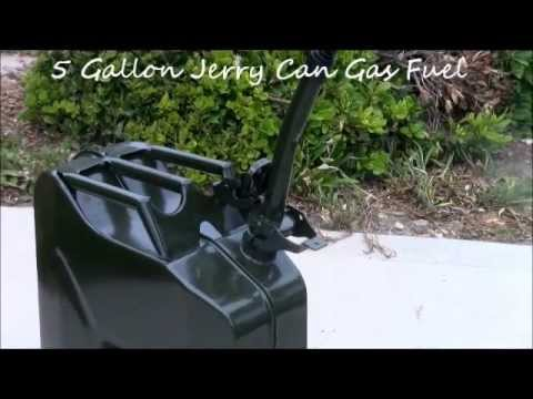 2 5 & 5 Gallon Jerry Can Gas Fuel Steel Tank Green Military NATO style 10L & 20L