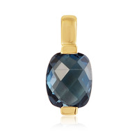 14K Gold Pendant With London Blue Topaz Gold Jewelry Pendant Designs